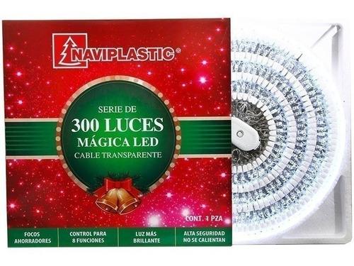 serie navideña 300 luces led blanco frio arbol de navidad