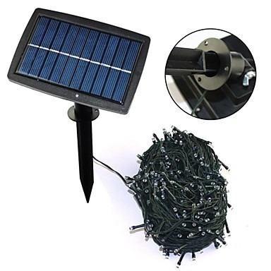 serie navideña azul solar led recargable 18 mts 100 leds stk