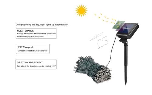 serie navideña solar (100 led cálido)