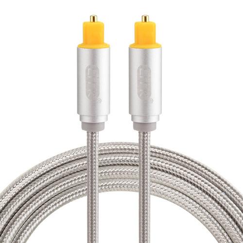 serie optica cable optico audio emk 1,5 plateado digital