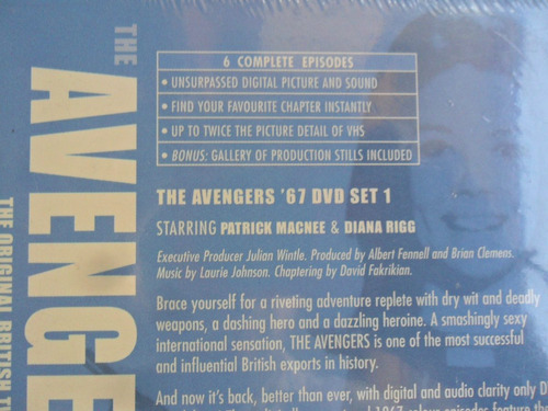serie original británica the avengers dvd