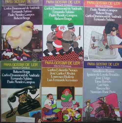 série para gostar de ler ática capa antiga lote 8 livros