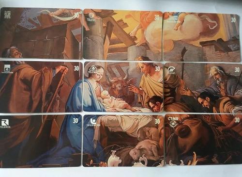 série rara puzzle natal 99 tiragem 5 mil (9 cartões)