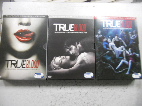 série true blood  1ª, 2ª, 3ª temporadas em dvd
