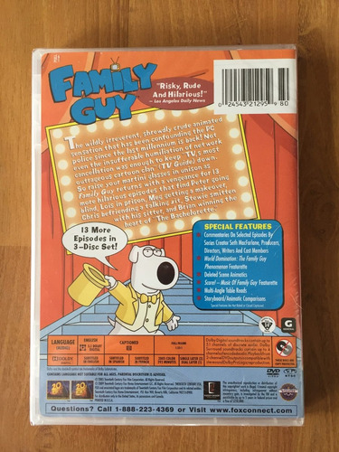 serie tv padre de familia / family guy temporada 1 2 3 dvd