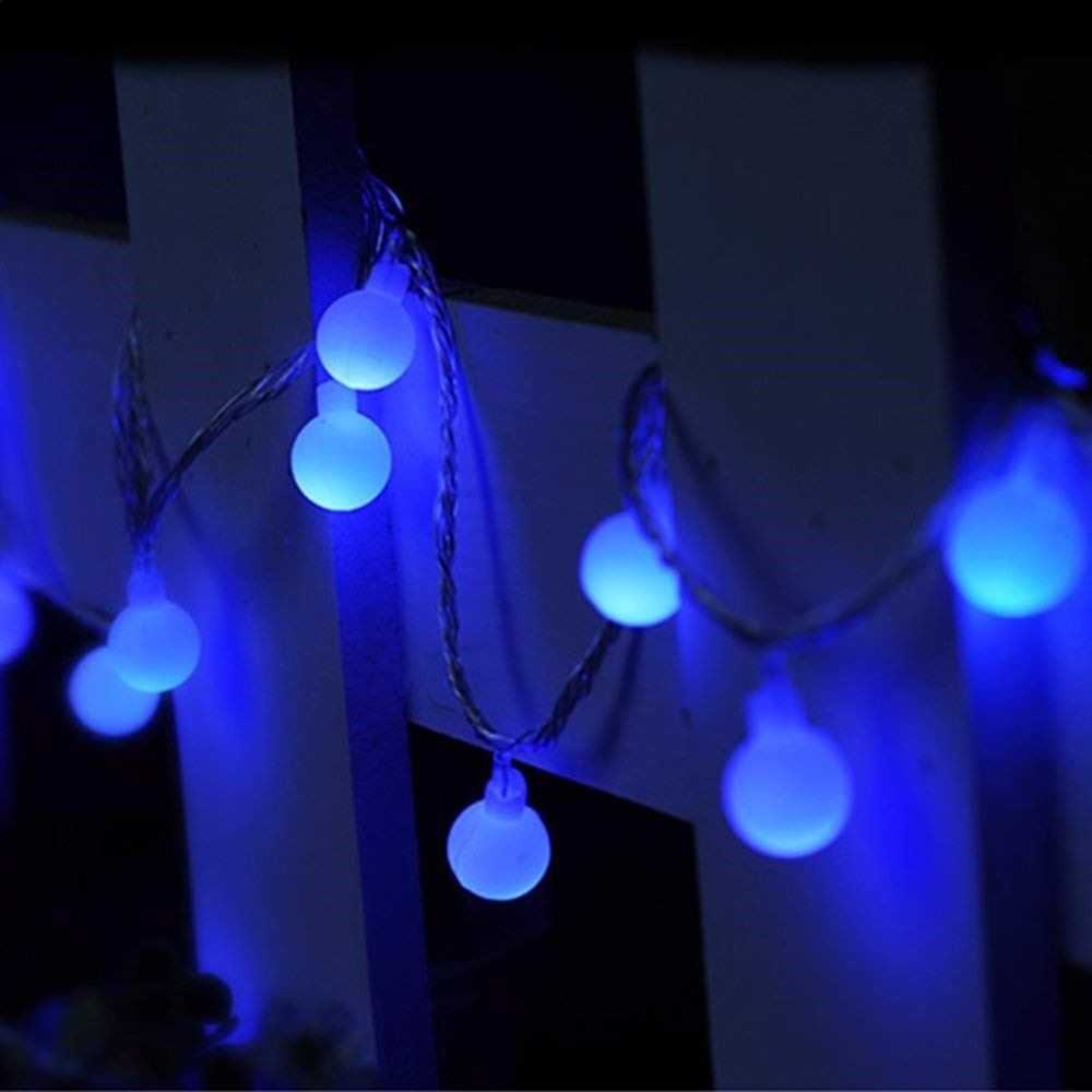 Series 100 Luces Led Globo 85 Mts Decoracion Vintage Azul - Decoracion-led
