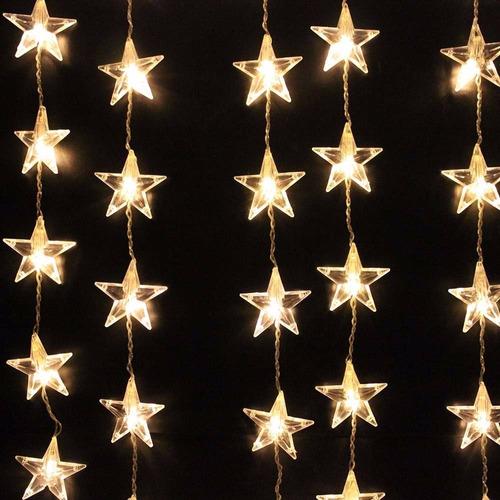 series 30 luces estrellas led solar de 6m!! envio gratis!!!