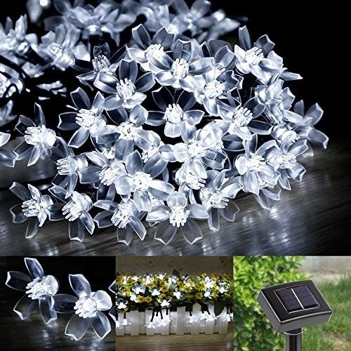 series de 50 luces led solares de 5.2 metros