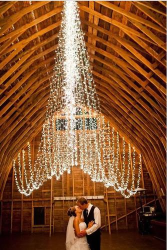 series luces led 50 metros  decoracion ambar vintage bodas