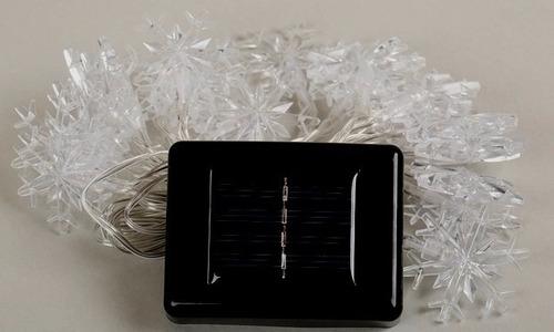 series navideñas solares panel solar copos de nieve 20 leds