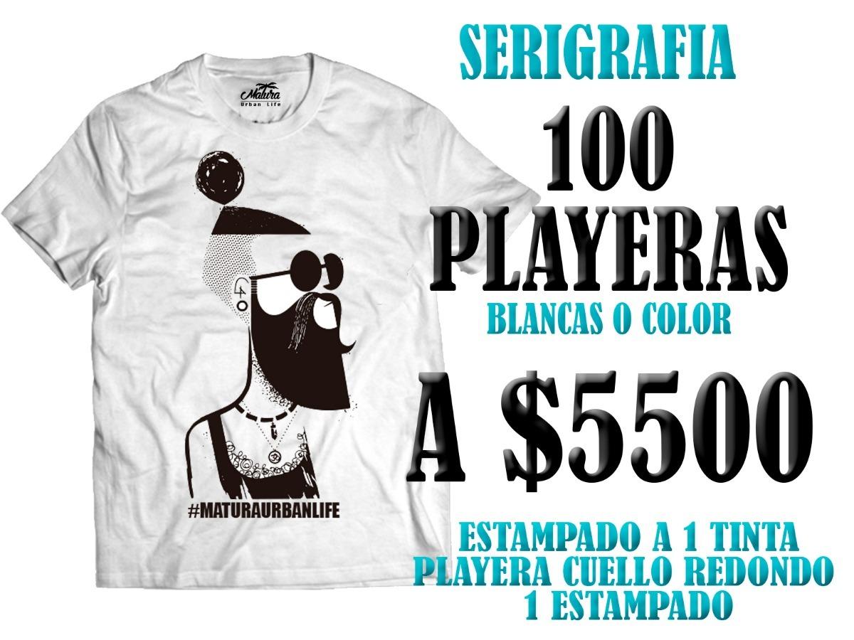 399107d632f6c Serigrafia 100 Playeras -   550.00 en Mercado Libre