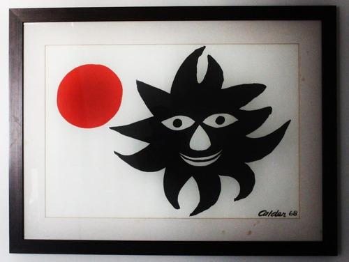serigrafia alexander calder red sun