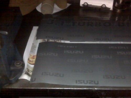 serigrafia calco original isuzu pick up doble cabina