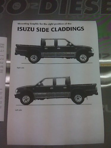 serigrafia calco original isuzu pick up doble cabina