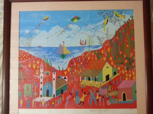 serigrafía del maestro feliciano carvallo 60x50cm