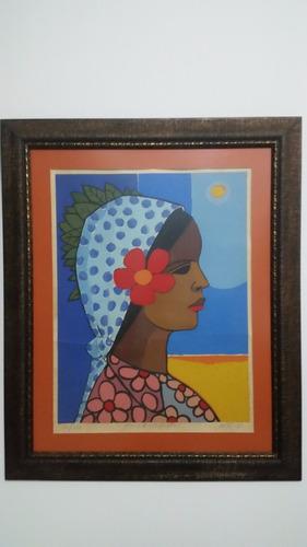 serigrafia del pintor dominicano candido bido 1986