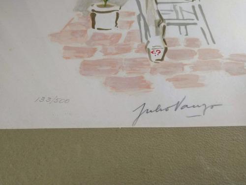 serigrafía intervenida julio vanzo firmada numerada 48 x 36