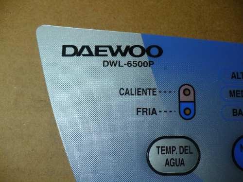 serigrafía panel lavarropas daewoo - philco dwl 6500p