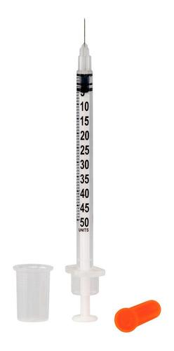seringa de insulina 0,5ml c/ agulha fixa 0,30mm x 8mm bag c/