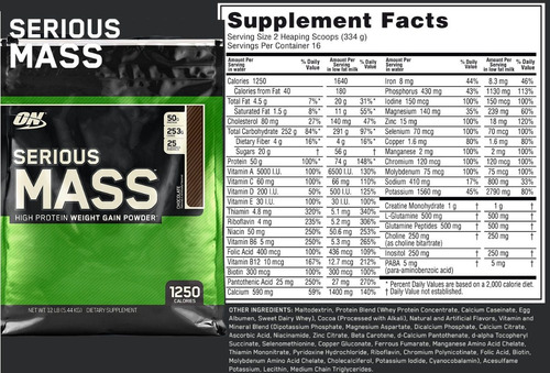 serious mass 12 lb  optimum nutrition   230 soles