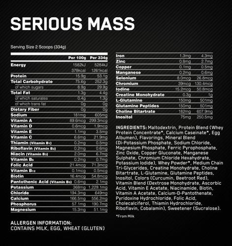 serious mass 6 lb hipercalóricas