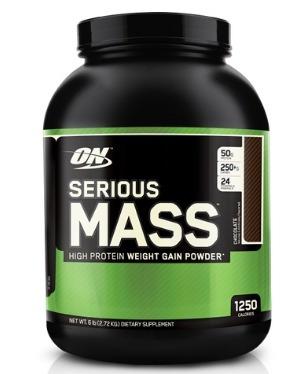 serious mass -  6lb- optimum nutrition + envío gratis