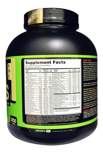 serious mass  6lb - optimum nutrition + envío gratis