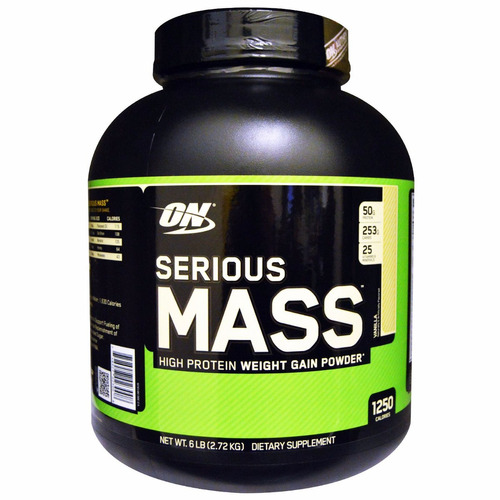serious mass optimum nutrition   6 libras