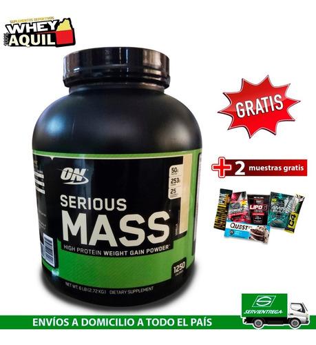 serious mass whey protein ganador peso masa + gratis