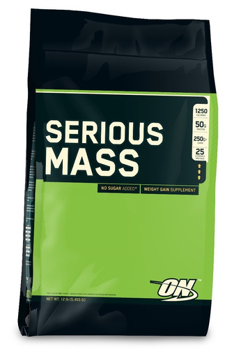 serious mass x 12 libras de optimum nutrition gana peso