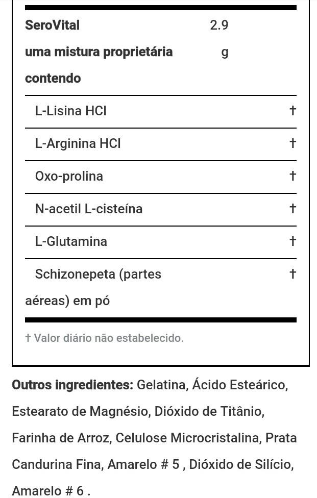Serovital Hgh - 120 Cápsulas Vegetarianas