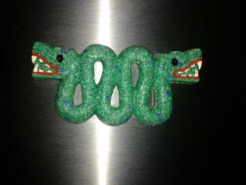 serpiente de dos cabezas azteca bicefala iman para refri