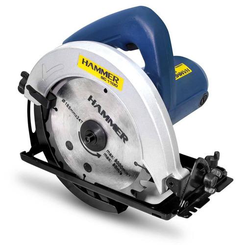 serra circular hammer sc1100 7 1/4 polegadas 127v 1100w
