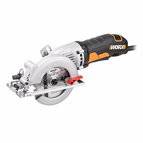 serra circular mini worxsaw 400w wx429 worx + serra/guia