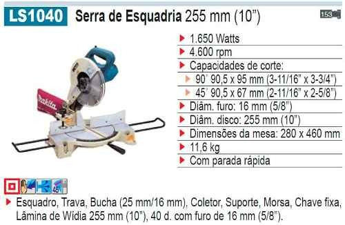 serra esqudria makita (110/220 volts ) ls1040
