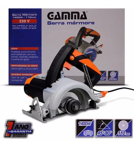 serra mármore 1400w 220v gamma 13000 rpm nova