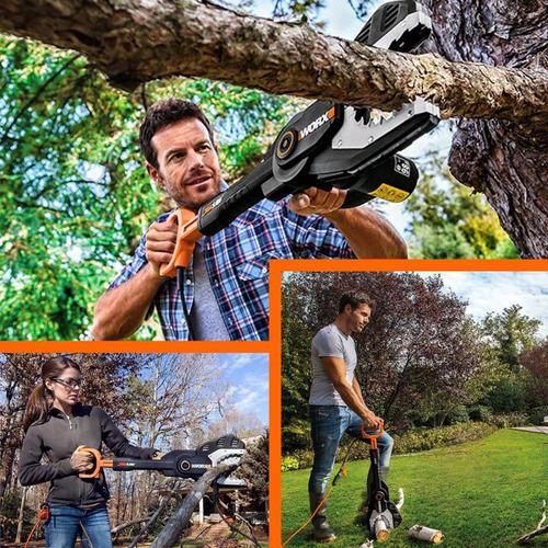 serra podar árvore e cortar galhos podador jawsaw wg307 worx