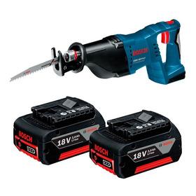 Serra Sabre Bosch Gsa18v Carregador E 2 Baterias Maquifer