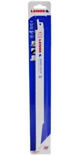 serra sabre lamina p/ metal madeira 12 pol. 14 dentes lenox