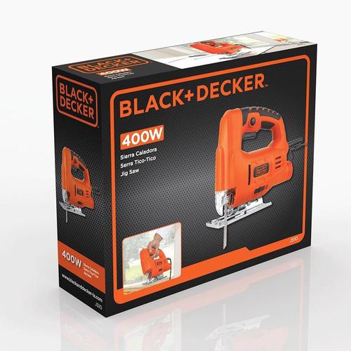 serra tico tico 400w js10 black decker 110v com 6 lâminas
