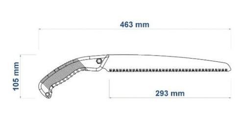 serrote para poda  + facão para mato 63 cm tramontina