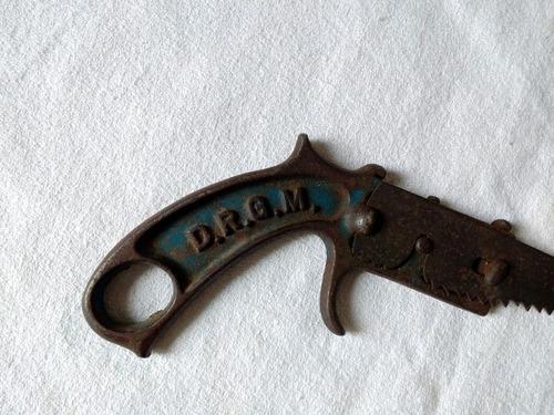 serrucho revólver antiguo d r g m steigo 25cm alemania nazi