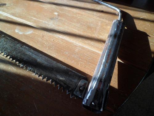 serrucho trozador arco antiguo sierra leña tronco hoja 1mts