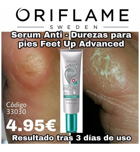 sérum anti-cayos para pies feet up advanced oriflame