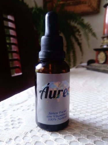 serum facial 100% natural con vitamina c y aloe de vera