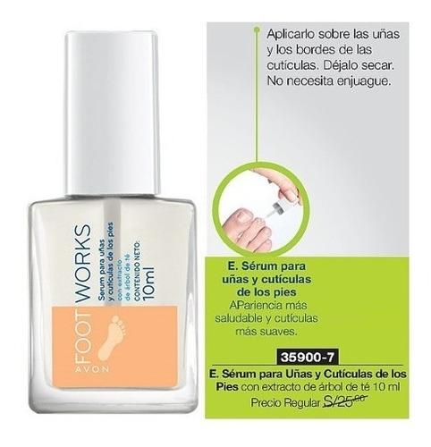 serum para uñas y cutículas pies con extracto de árbol de te