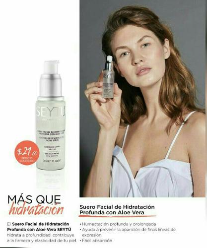 serum, suero facial de hidratacion seytu cosmetica
