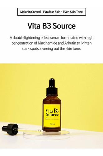 serum vitamina b3, aclara la piel y las manchas, tiam, corea