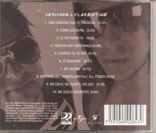 servando y florentino -  cd original - un tesoro musical