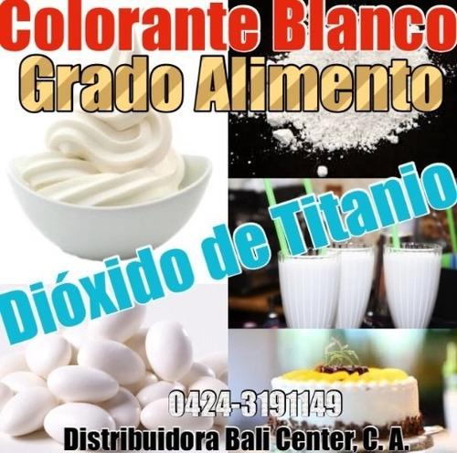 servc pigmento colorante blanco alimenticio dioxid de titani